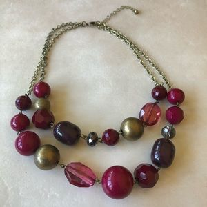 3 for $15😍 chunky purple statement necklace
